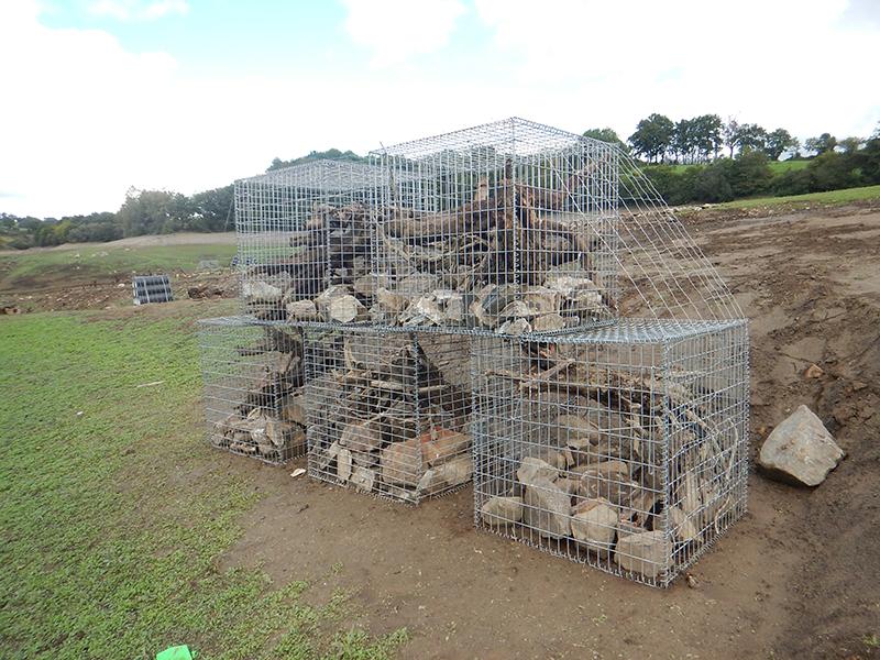"""Récifs artificiels type """"Gabions"""" - Barrage de Bage (12)"""